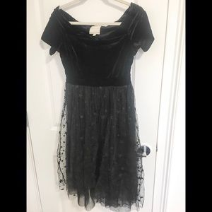ModCloth Velvet and Tulle Starry Dress